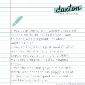 Read Daxton's diary on insta @pregnancymatters